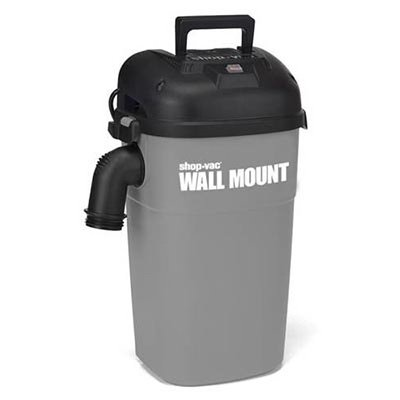 SHOP VAC CORP 3941000 4.0 Peak Hp Wall Mount Vacuum Unit, 5 Gallon (Best Wall Mount Shop Vac)
