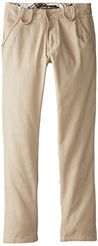 Eddie Bauer Girls' Twill Pant (More Styles Available), Classic Khaki, 8 by Eddie Bauer