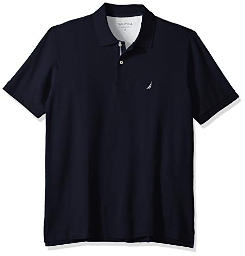 Nautica Men's Classic Fit Short Sleeve Solid Performance Deck Polo Shirt, Navy, 4X Big
