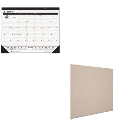 KITAAGSK2400BSXP6060GYGY - Value Kit - Basyx Vers Office Panel (BSXP6060GYGY) and At-a-Glance Recycled Desk Pad (AAGSK2400)