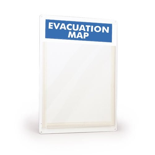 Brady 45381, Evacuation Map Display Holder, (Pack of 4 pcs) (Evacuation Map Holder)