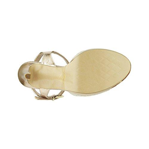 Sandali Su Della Tacchi Cinghia Caviglia Pattini Donne 4166 Delle Caviglia Aperto Tacco Con Modernissima xRRC48Z