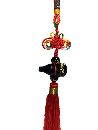 Betterdecor Feng Shui Om Mani Padme Hum Wu Lou Charm Hanging -Anti Negative Chi (with a Pouch)