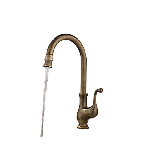 - Giow Traditional Kitchen Faucet 360-Degree Swivel Spout Single Handle Antique Brass Kitchen Mixer Tap Faucet