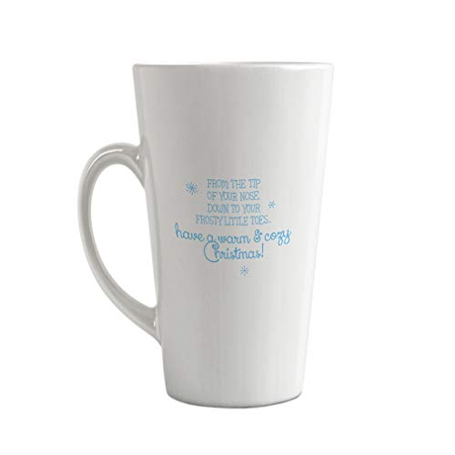 Style In Print Light Blue from Tip Your Nose Down Your Frosty Little Toes Ceramic Latte Mug - 17 OZ