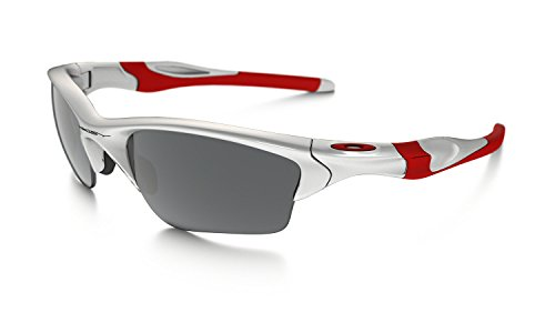 Oakley Half Jacket 2.0 XL OO9154-23 Iridium Sport Sunglasses,Polished White,55 mm