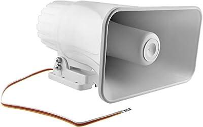Epsilont 30 Watt Siren Dual Tone Indoor/Outdoor Self-Contained Electric Security Siren SD-30W 6-12VDC 1.1Ah 120db 8 X 5.5 X 9 Inch