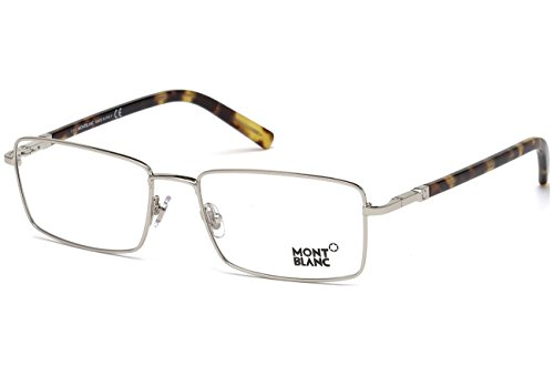 016 Metal (Mont Blanc - MB0583, Geometric, acetate/metal, men, SHINY PALLADIUM BLONDE HAVANA(016 J), 56/18/145)