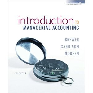 managerial accounting garrison 10th edition solution manual