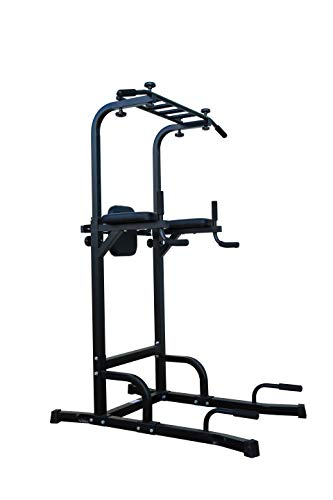 SILVER VALLEY Power Tower Dip Station Pull Up Bar Verstelbare Hoogte voor Thuis Gym Kracht Training Training Apparatuur