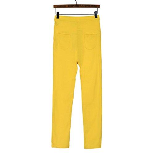 Sexy Fille Classique VTements Couleurs Collant S Grande XXXL Taille Multi Jeans Denim Pantalon Slim Casual Mode Leggings Jaune Lastique HCFKJ Skinny Crayon Femmes Ug4qUS
