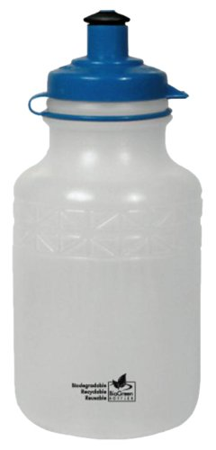 BioGreen Biodegradable BPA-Free Kids Bottle with Leak Proof DuoFlow Lid with Tether (14-Ounce, Frosted Clear, Plain)