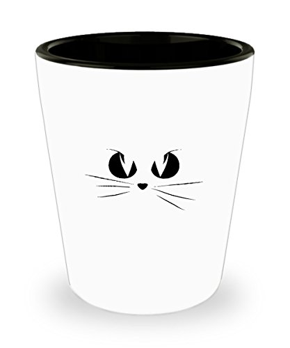 Shot Glass Cat Face Halloween Costume Women Men Children Gift Glass -