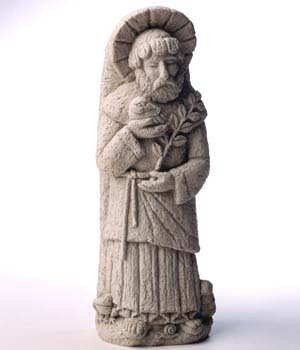 Cast Stone - St. Francis - Inspirational, Patron Saint Of Nature - Animals, Bird, Frog, Snail Plaque - Concrete Home Or Garden Sculpture