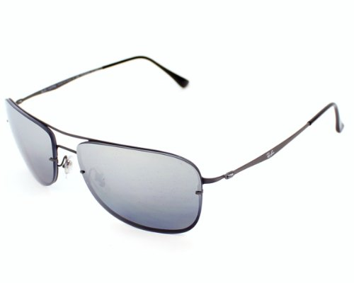 1639ad7f446 Ray Ban sunglasses RB 8054 LightRay RB8054 154 82 Titanium Matt Grey Grey  polarised with Mirror effect  Amazon.co.uk  Clothing