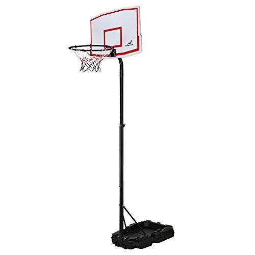 Woodworm Outdoor Adjustable 205-220cm Portable Basketball Hoop Net System...