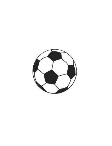 Soccer Clipart (Outdoor Sports Ball Football Soccer Clip Art Decal for Playroom and Bedroom - Peel & Stick Sticker - Vinyl Wall Art Design DISCOUNTED SALE ITEM Size : 10 Inches X 10 Inches - 22 Colors Available)