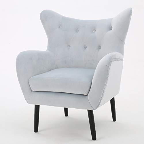 Heleen | Velvet Mid Century Modern Club Chair | Light Grey