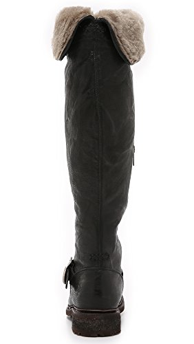 FRYE Women's Valerie Shearling Over-The-Knee Riding Boot Black-75006