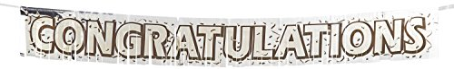 Beistle 50889 Metallic Congratulations Fringe Banner, 8-Inch by (Congrats Banner)