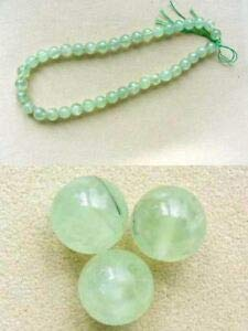 Rare Gemmy Green Prehnite 10mm Round Bead Strand 107273 Spacer Beads and Roll Crystal String for Bracelets Jewelry Making