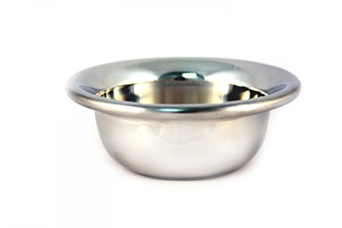 RAZZOOR Small Shaving Bowl Chrome - Heavy Version - For Producing Perfect Lather For Wet Shaving With Shaving Soap and Shaving Brush