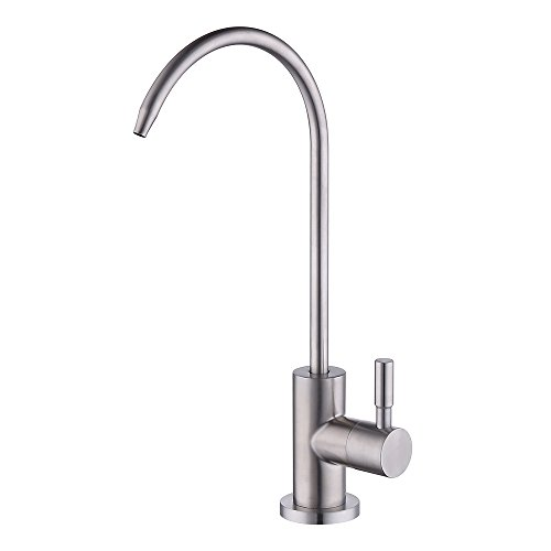 Traditional Water Drinking (KES RO Water Filter Faucet Kitchen Bar Sink 304 Stainless Steel Drinking Water Faucet Brushed Nickel, Z501A)