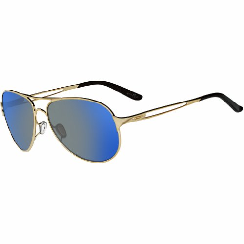 Oakley Women's Caveat Aviator, Polished Gold/Ice Iridium, 60 mm