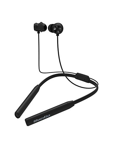 Bluedio TN2 (Turbine) Bluetooth Headphones Neckband in-Ear Earphones, Wireless Sports Magnetic Switch Earbuds with Mic for Running Cell Phone, 9-12 Hrs Playback (Black)