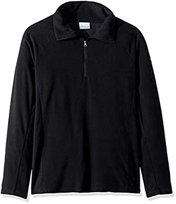 Columbia Women's Glacial IV Half Zip, Soft Fleece with Classic Fit, Black, Large
