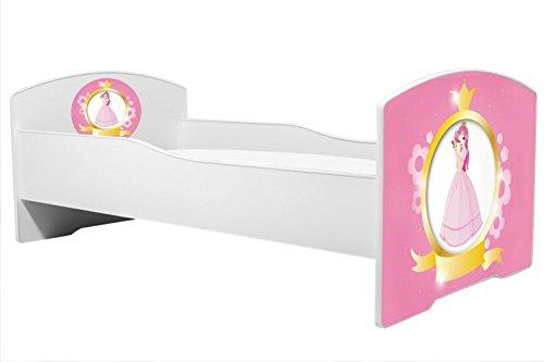 """Lettino per bambini luk """"principessa"""" dimensione 160×80 cm con materasso Prezzi offerte"""