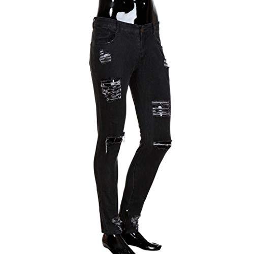 Grigio Classiche Pantaloni Strappati Fit Fori In Ragazzi Elasticizzati Scuro Denim Distrutti Da Biker Skinny Dunkelgrau Jeans Uomo Chern Slim pCqgR
