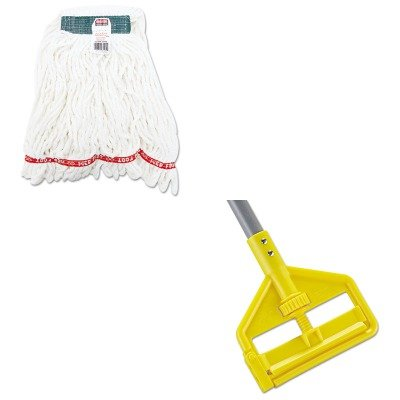 KITRCPA21206WHIRCPH146 - Value Kit - Rubbermaid Web Foot Shrinkless Looped-End Wet Mop Head (RCPA21206WHI) and Rubbermaid Invader Fiberglass Side-Gate Wet-Mop Handle (RCPH146) by Rubbermaid
