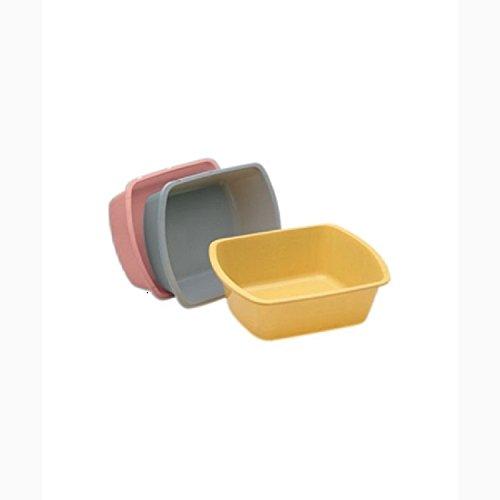 Medegen Medical H360-11 Wash Basin, Rectangular, 6 quart, Gray (Pack of 50) by Medegen Medical
