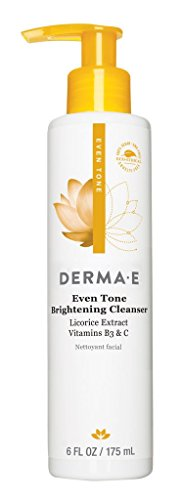 derma e Evenly Radiant Brightening Cleanser with Vitamin C, 6 oz