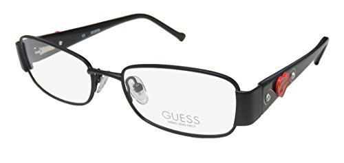 Guess 9085 Womens/Ladies Designer Full-rim Strass Flexible Hinges Eyeglasses/Glasses (48-16-130, Black Glitter / Gold / - Eyewear 2013 Guess