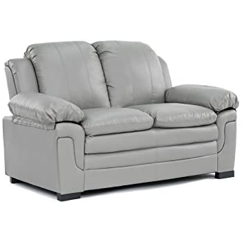 Amazon.Com: Modern Two Tone Fabric And Bonded Leather Living Room