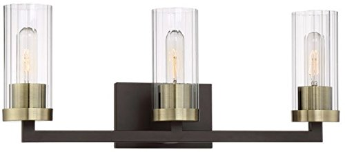 Minka Lavery Wall Light Fixtures 3043-560 Ainsley Court Bath Vanity Lighting, 3-Light 180 Watts, Aged Kinston Bronze