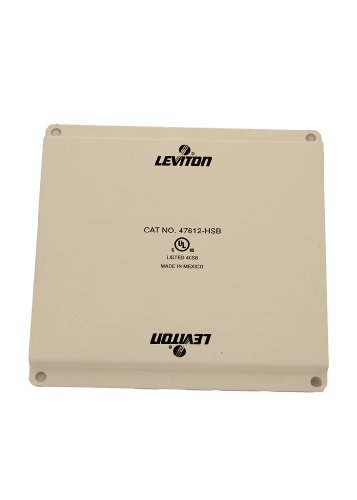 - Leviton 47612-HSB Half Width Universal Security Plate with PCB Mounting Clips, White