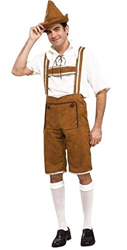 Men's Hansel Costume, Brown/Off White, One Size