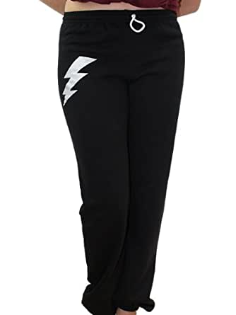 YogaColors Unisex Lightning Flex Fleece Lounge Pant (Large, Black)