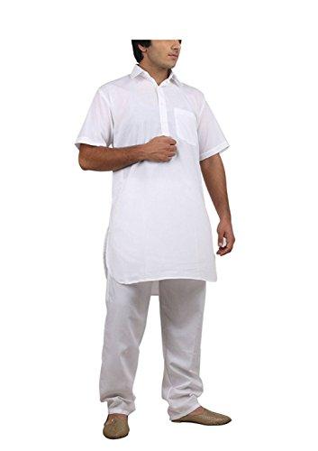 Royal Kurta Big Boy's Cotton Blended Fine Pathani Kurta Pyjama 42 White by Royal Kurta (Image #3)