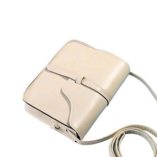 WE preppy QY4 Mujer Bags Sintética Piel Mounter estilo Beige de xZqPnCPTw
