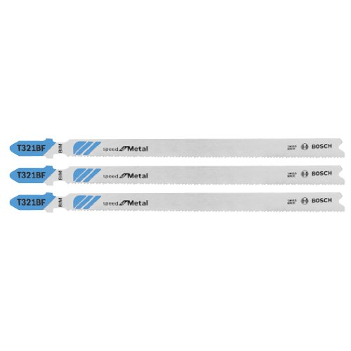 (Bosch T321BF3 3-Piece 5-1/4 In. 12 TPI Speed for Metal T-Shank Jig Saw)
