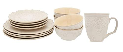 - The Pioneer Woman Farmhouse Lace 12-Piece Dinnerware Set & Lace Mug Set 4-Pack