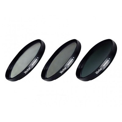 Vivitar 77mm 3 Piece Fundamental Filter Kit UV + CPL + ND8