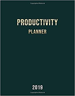 Amazon com: Productivity Planner 2019: 12-Month Daily Weekly