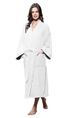 100% Turkish Cotton Men and Women Premium Terry Kimono Bathrobe Made in Turkey