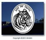 TIGER Big Wild Cats Tiger Protection Vinyl Bumper Sticker Decal I love Tigers
