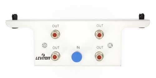 Leviton 47690-4C2 1X4 Passive Video Splitter Module, White Leviton Video Amplifier
